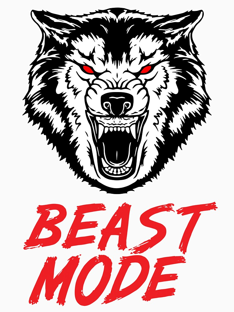 Beast Mode Gym Fitness Wolf by maniacfitness
