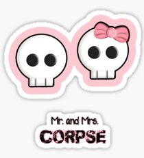 mr. and mrs. CORPSE Sticker