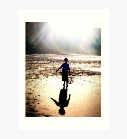 On the beach I Art Print