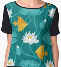 Tangram goldfish and water lilies Chiffon Top