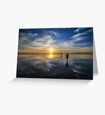 Walking on water - Cable Beach sunset Greeting Card