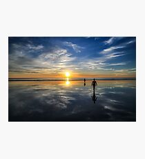 Walking on water - Cable Beach sunset Photographic Print