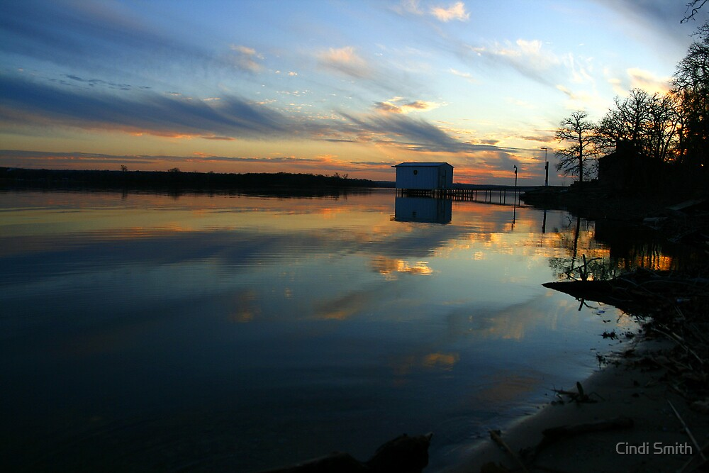 BOAT HOUSE AT SUNSET by Cindi Smith
