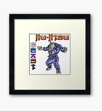 Jiu-Jitsu Beast Rhino Framed Print