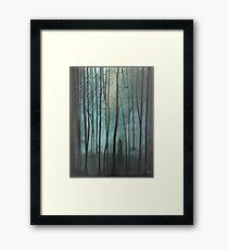 Slender Man Fan Art Framed Print