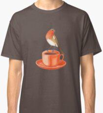 coffee loving robin bird Classic T-Shirt