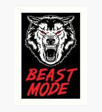 Lámina artística Beast Mode Gym Fitness Wolf