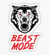 Tiermodus Fitness Fitness Wolf Sticker