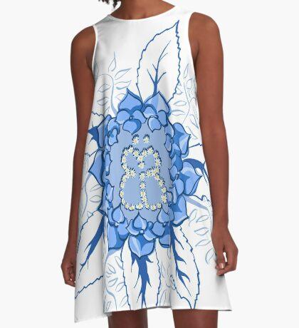Butterflyflower A-Linien Kleid