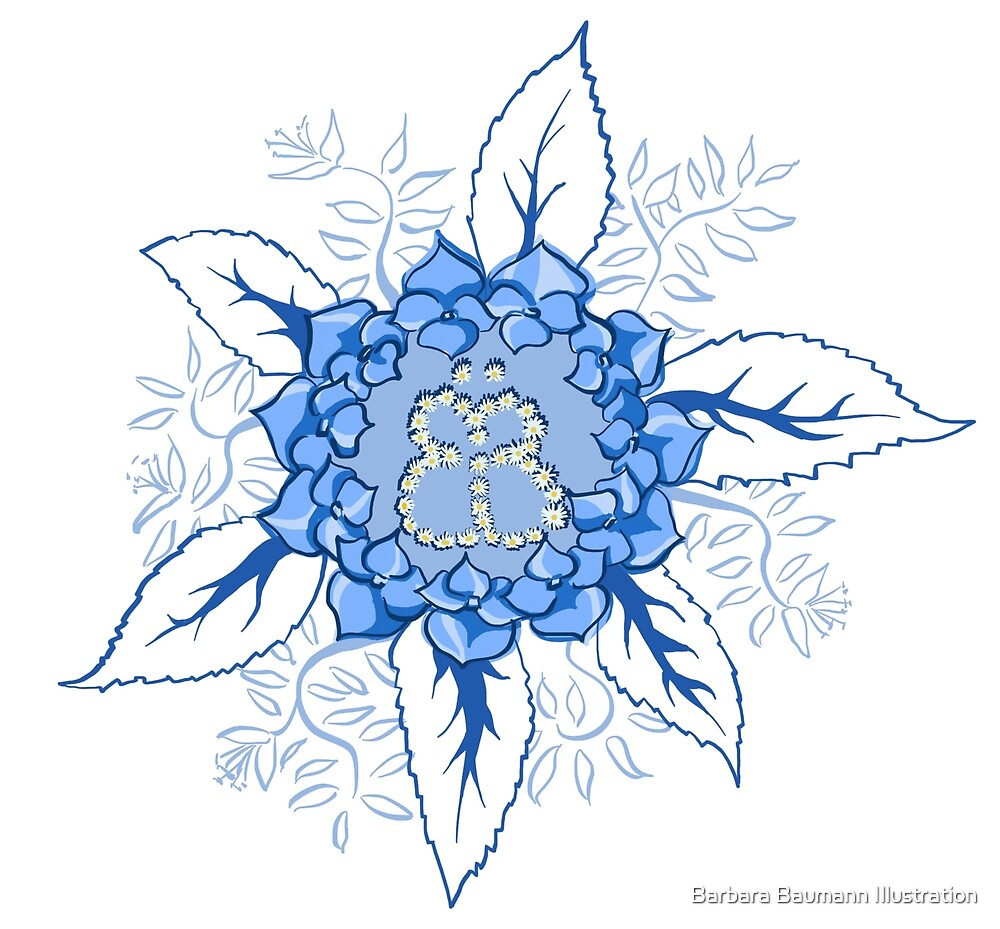 Butterflyflower von Barbara Baumann Illustration