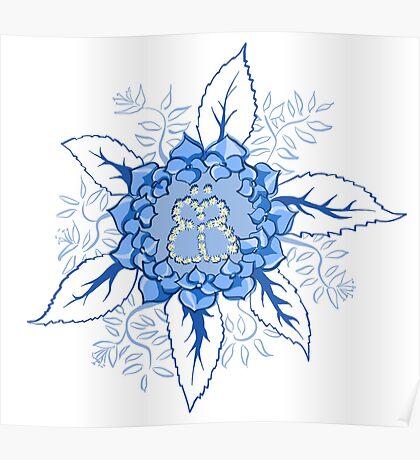 Butterflyflower Poster