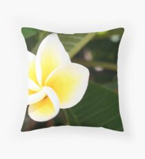 frangapani Throw Pillow