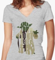 Yoda Women's Fitted V-Neck T-Shirt