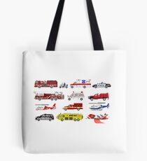 Emergency Vehicles - The Kids' Picture Show - 8-Bit Tote Bag