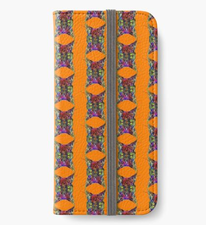 Artificial neural style Space galaxy mirror cat iPhone Wallet