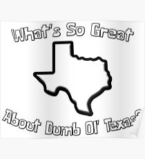 Spongebob // What's So Great About Dumb Ol' Texas? Poster