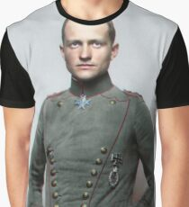 Manfred von Richthofen, the Red Baron Graphic T-Shirt
