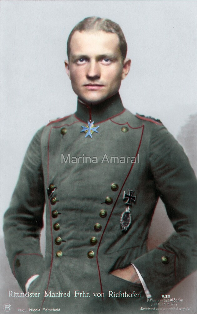 Quot Manfred Von Richthofen The Red Baron Quot By Marina Amaral