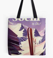 Sochi Russia Ski travel poster Tote Bag