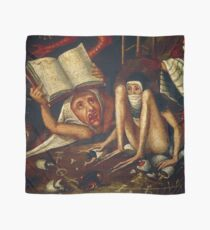 Hellish Creatures details from Hieronymus Bosch Scarf