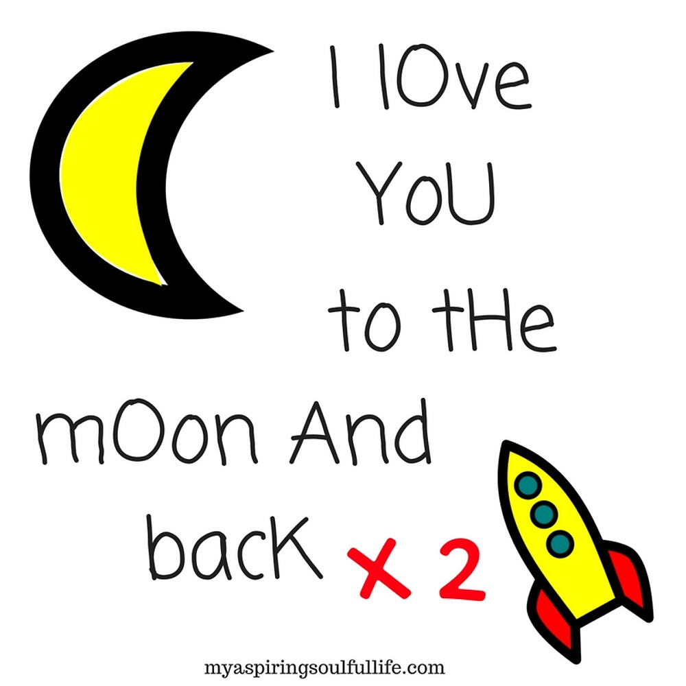 Love you to the moon and back x2 by Jacqueline Cooper