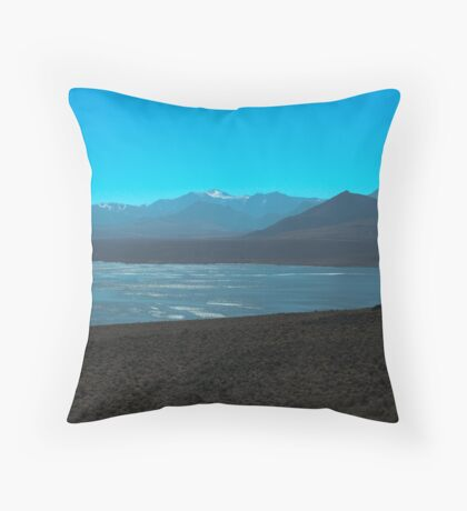 Mono Lake and Sierra Nevada Throw Pillow