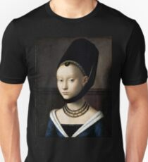 Petrus Christus Portrait of a Young Woman Unisex T-Shirt
