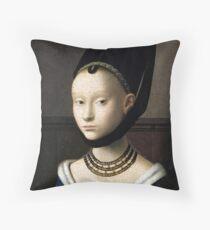 Petrus Christus Portrait of a Young Woman Throw Pillow