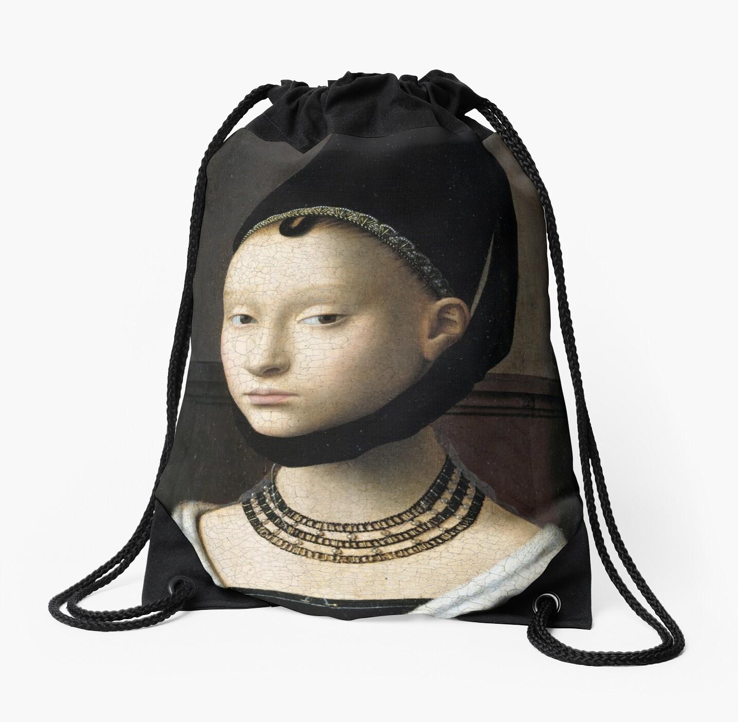 Mochilas de cuerdas «Petrus Christus Retrato de una mujer joven» de ... c506ba23f05