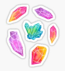 Aquarell-Kristalle Sticker