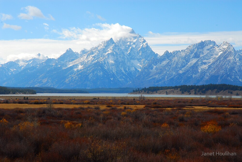 Cloud Banners on the Tetons by Janet Houlihan