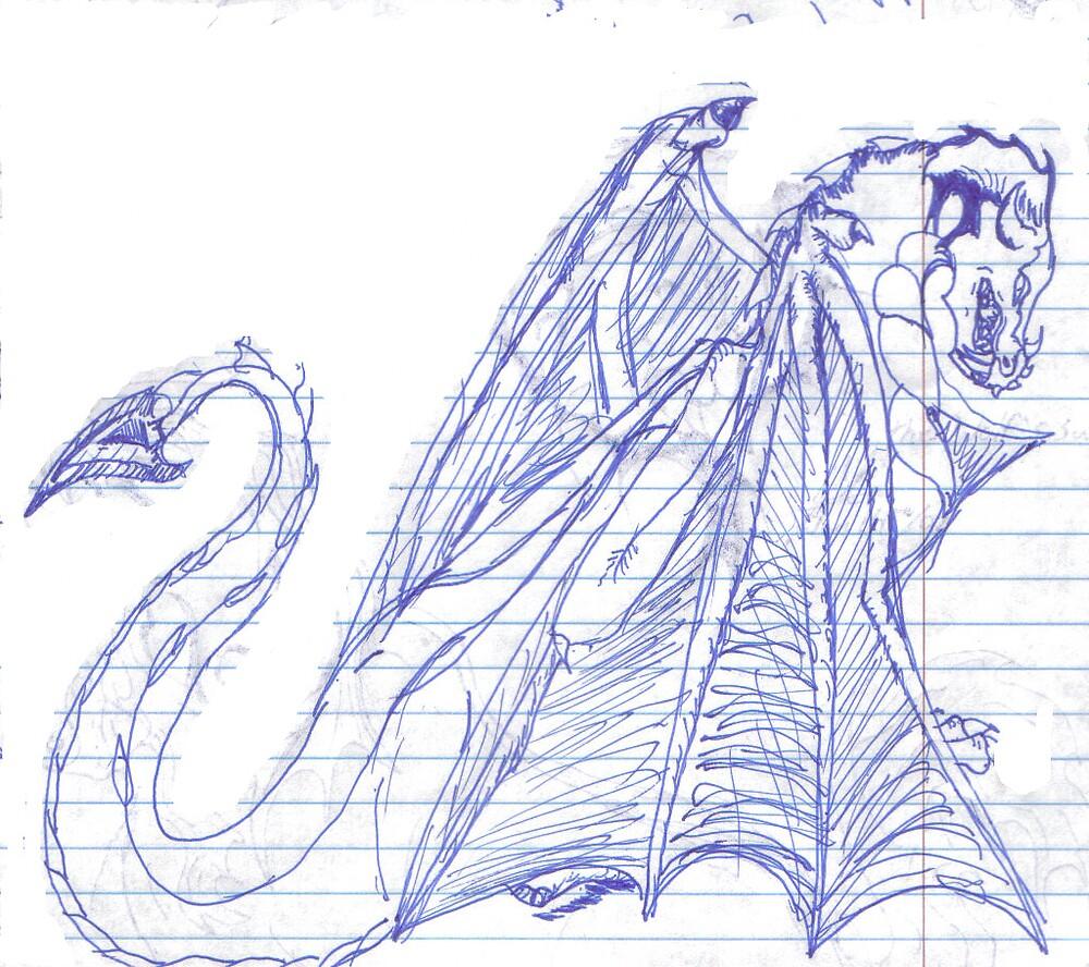 ink dragon by tukara