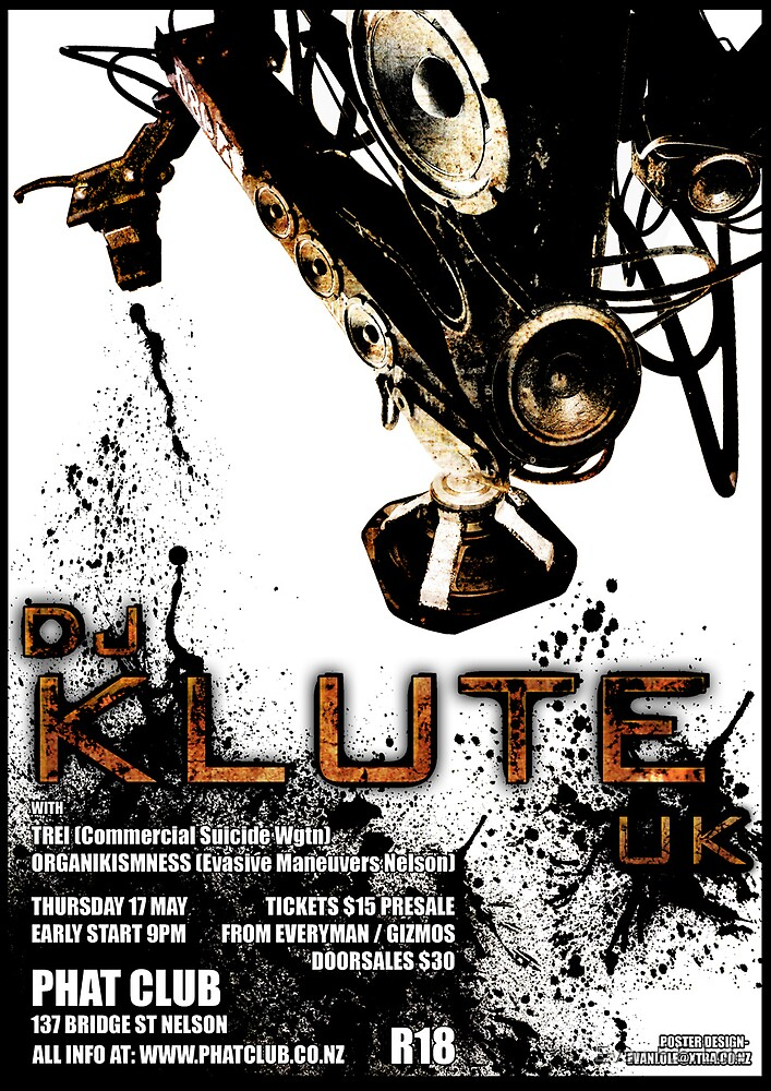 Poster for Klute Gig  by Evan F.E. Lole
