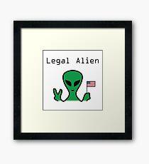 Legal Alien Framed Print