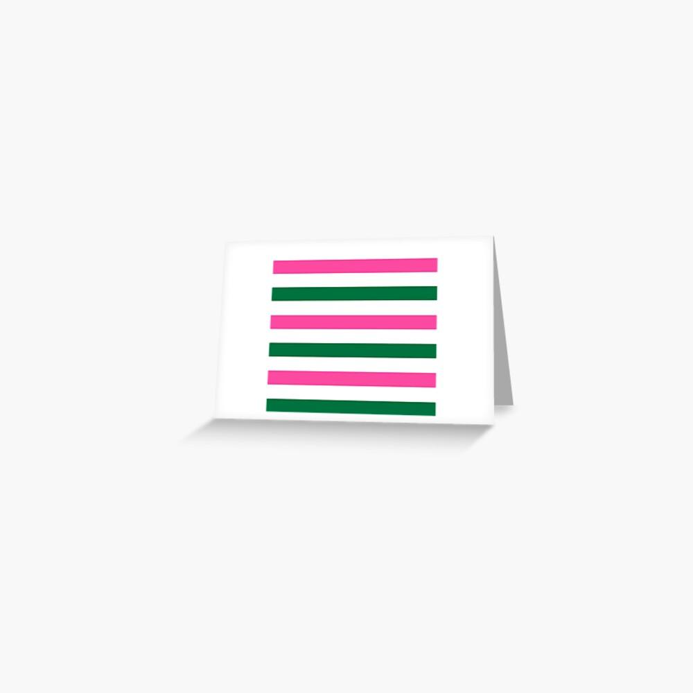Deckchair Stripes Greeting Card