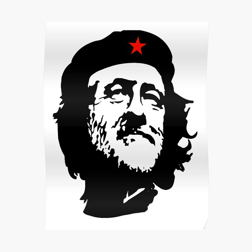 CORBYN, Comrade Corbyn, Election, Leader, Politics, Labour Party, Black on White Poster