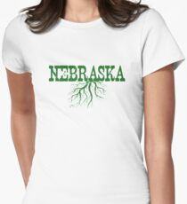 Nebraska Roots Women's Fitted T-Shirt