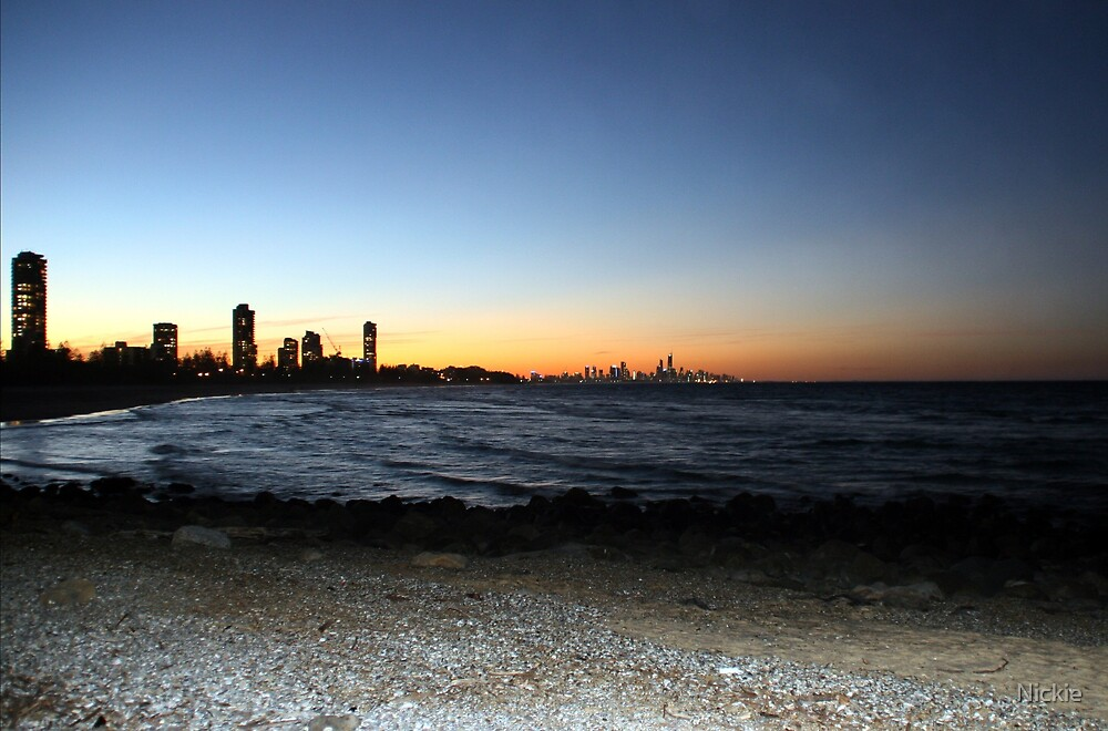 Sunset Burleigh Beach by Nickie