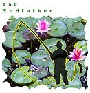 THE RODFATHER FLY FISHING FISHERMAN by Nicola Furlong