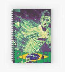Neymar Brazil Spiral Notebook