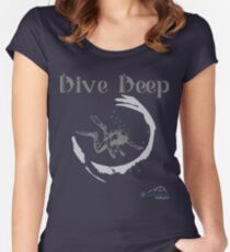 Dive Deep Women's Fitted Scoop T-Shirt
