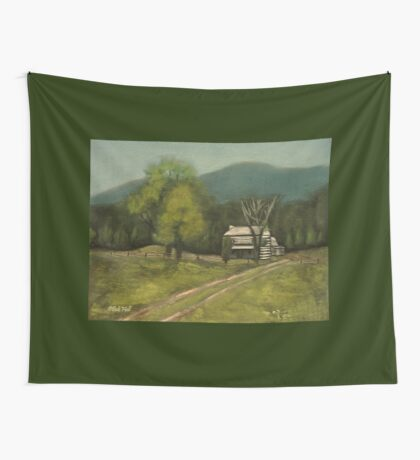 PHILIP'S PLACE, Pastel Painting, for prints and products Wall Tapestry