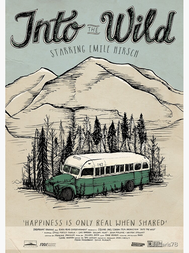 Into The Wild Illustrated Film Poster by LJefferis78