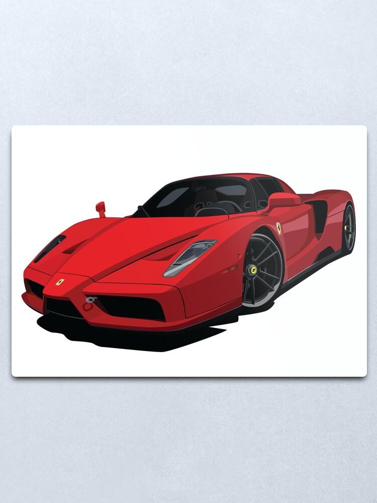 Super Cars Le Ferrari Cartoon Car Wall Decal Graphic Sticker New Free Shipping