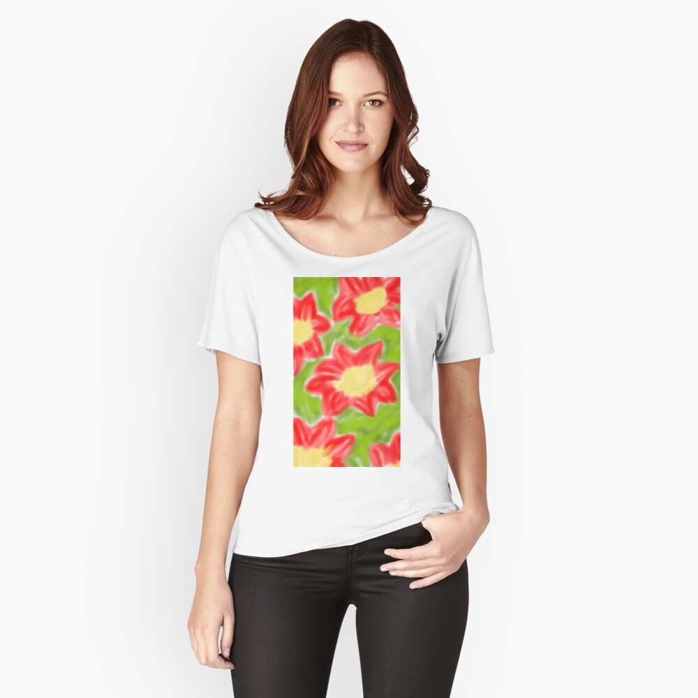 rote Blumen #RBSTAYCAY Loose Fit T-Shirt