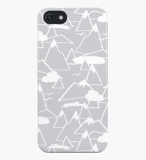 Mountain Scene in Grey iPhone Case
