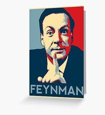 Richard P. Feynman, Theoretical Physicist Greeting Card