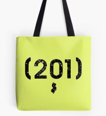 Area Code 201 New Jersey Tote Bag
