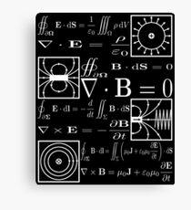 Maxwells Gleichungen Leinwanddruck
