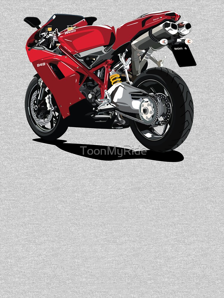 Ducati 848 Bike Cartoon Classic T Shirt By Toonmyride Redbubble